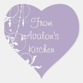 Shabby Chic Purple Baking Stickers