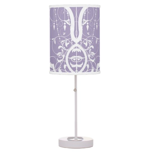Shabby Chic Purple Chandelier Table Lamp Zazzle