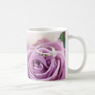 shabby chic purple rose floral bridal shower coffee mug