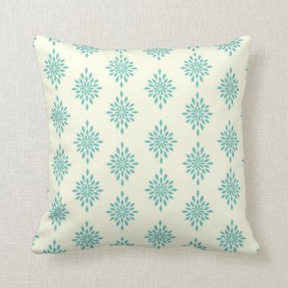 Shabby Chic Rapture Sage Cream Diamond Pillow