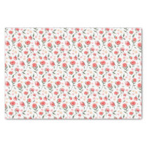 Shabby Chic Red Roses Pretty Tissue Paper