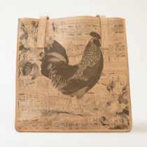 Shabby Chic Rooster Tote