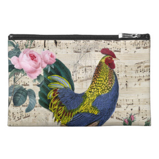 Shabby Chic Rooster Travel Accessory Bag