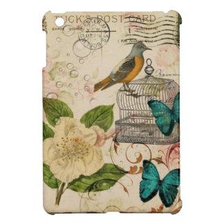 shabby chic rose botanical birdcage french bird iPad mini cover