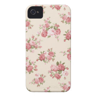 Shabby chic rose Case-Mate iPhone 4 case