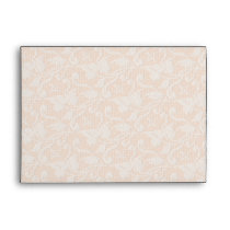 Shabby Chic Rose Floral Lace Pattern Envelope
