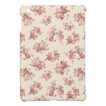 Shabby chic rose iPad mini cover