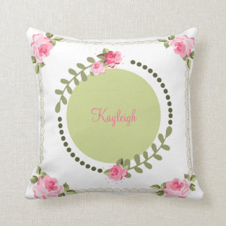 Shabby Chic Rose Pillow