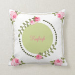 Shabby Chic Rose Pillows