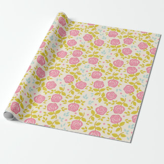 Shabby Chic Rose Pink Wrapping Paper
