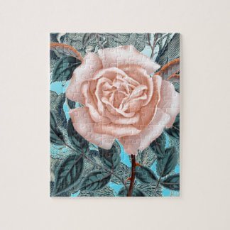 Shabby Chic Rose Jigsaw Puzzle