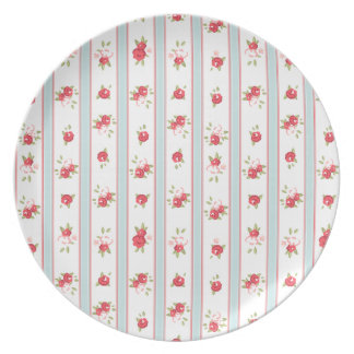 Shabby Chic Roses Floral Vintage Dinner Plate