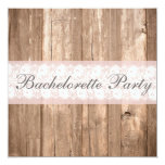 Shabby Chic Rustic Bachelorette Party Invitation