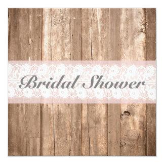 Shabby Chic Rustic Bridal Shower Customizable Card