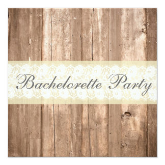 Shabby Chic Rustic Cream Bachelorette Party Card