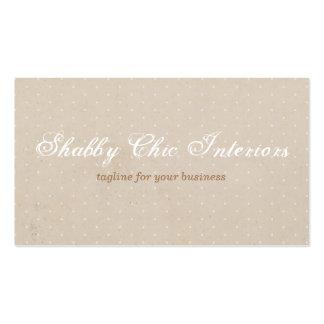 Shabby Chic Rustic Kraft & Polka Dot Business Card