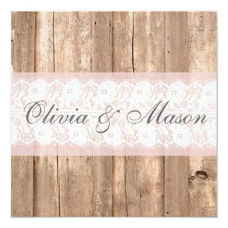 Shabby Chic Rustic Wedding Invitation