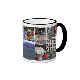 Shabby Chic San Fran Ringer Coffee Mug