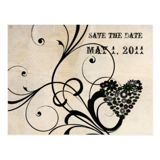 Shabby Chic Save the Date Postcard