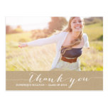 Shabby Chic Script Graduation Thank You Postcard