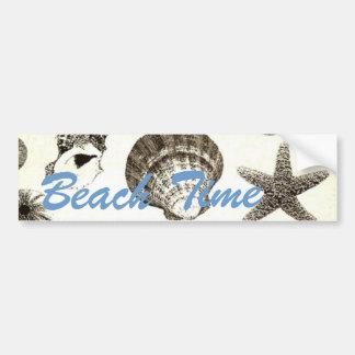 Shabby Chic Seashell Beach Wedding favor Car Bumper Sticker