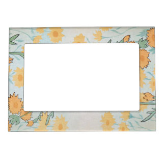 Shabby Chic Spring Floral Art Magnetic Picture Frame