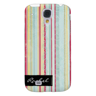 Shabby Chic Stripe Pattern iPhone3G Cover Galaxy S4 Covers