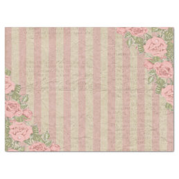 Shabby Chic Striped Floral Wedding Tissue Paper