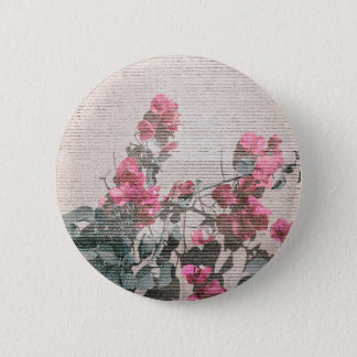 Shabby Chic Style Floral Photo Button