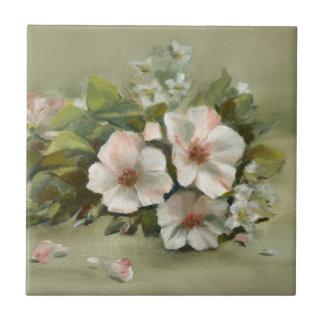 Shabby Chic style Roses Ceramic Tile