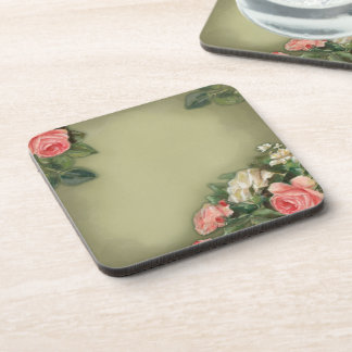 Shabby Chic style roses Drink Coaster