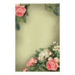 Shabby Chic style roses Personalized Stationery