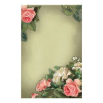 Shabby Chic style roses Stationery