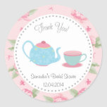 Shabby Chic Tea Party Bridal Shower Sticker