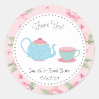 Shabby Chic Tea Party Bridal Shower Sticker