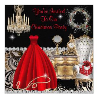 SHABBY CHIC TEMPLATE CUSTOM CHRISTMAS INVITATIONS