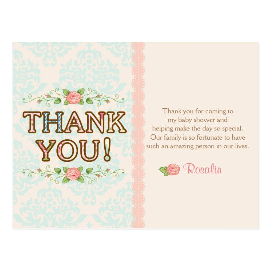 Shabby Chic Thank You Cards Zazzle Com