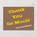 "[ Thumbnail: Shabby Chic ""Thank You So Much!"" Postcard ]"