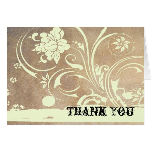 Shabby Chic Thank You Stationery Note Card