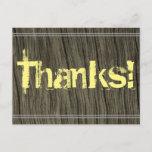 "[ Thumbnail: Shabby Chic ""Thanks!"" Postcard ]"