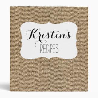 Shabby Chic Tweed Rustic Burlap Fabric Texture Binder