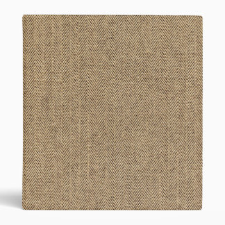 Shabby Chic Tweed Rustic Burlap Fabric Texture Vinyl Binder