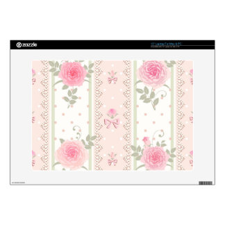 """Shabby chic,victorian,floral,wallpaper,vintage 15"""" laptop skin"""