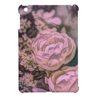 Shabby chic Victorian garden Bohemian pink Rose iPad Mini Cover