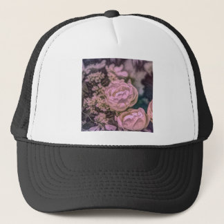 Shabby chic Victorian garden Bohemian pink Rose Trucker Hat
