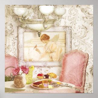Shabby Chic Victorian Lunch, Paris, art print