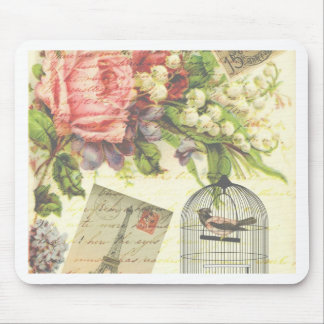 Shabby Chic vintage art Paris accessories and gift Mouse Pad