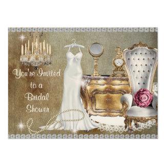 SHABBY CHIC VINTAGE BRIDAL SHOWER INVITATION