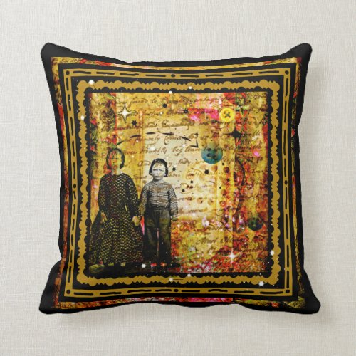 Shabby Chic vintage child collage pillow