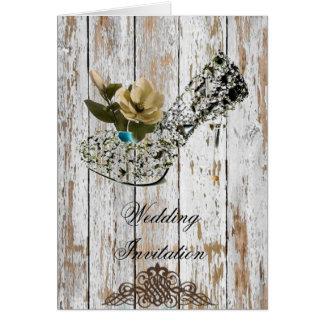 shabby chic vintage country wedding favor greeting cards